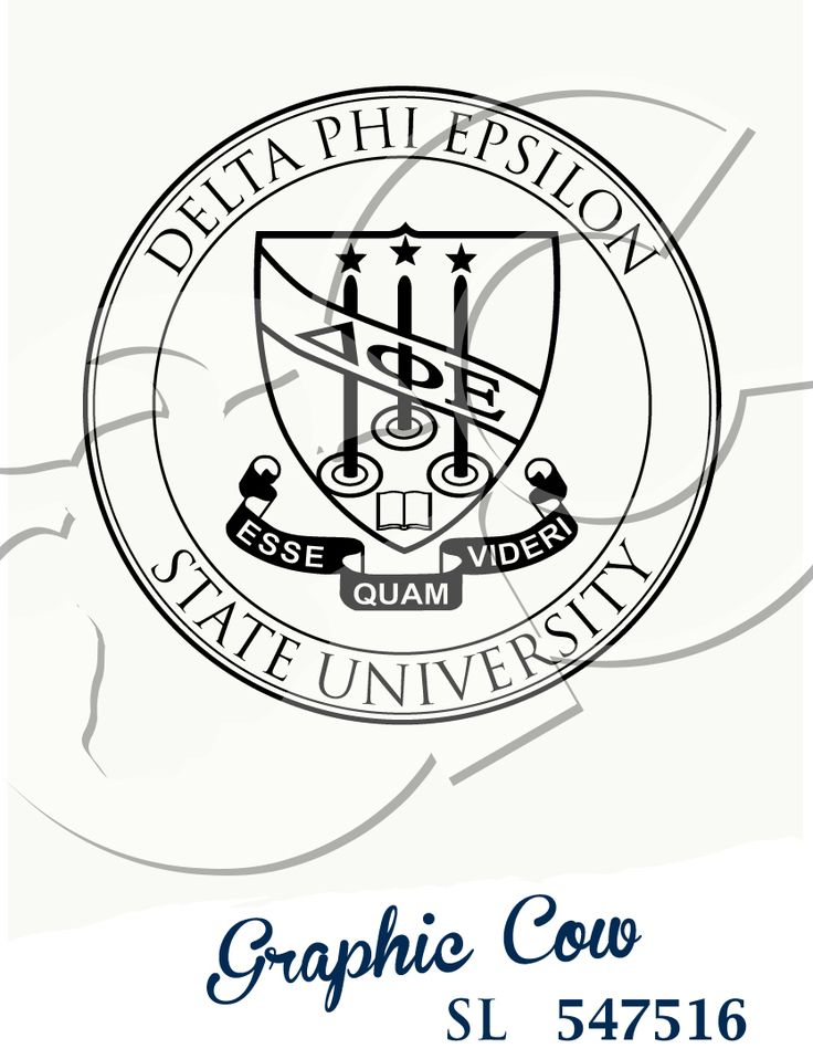 Delta Phi Epsilon Greek crest #grafcow