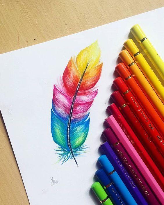 Души, прикольные рисунки карандашами цветными легко