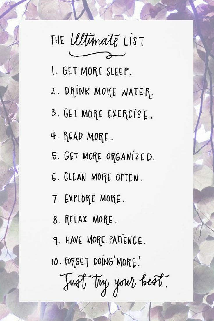 The Ultimate List You Should Follow To Have A Better Life