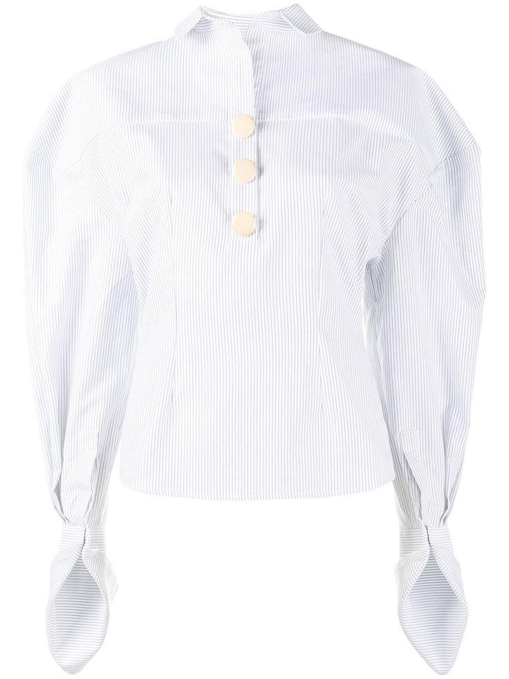 Jacquemus полосатая рубашка с пышными рукавами