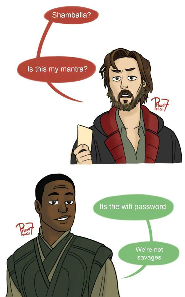 Its the wifi password by pencilHeadno7. This quote come from the first trailer on upcoming Marvel's Doctor Strange (2016).