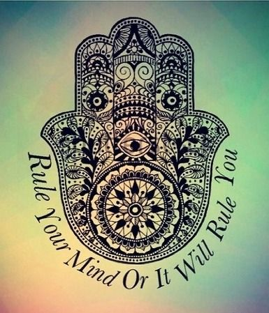 What you think, you become. Be positive. Keep a clear and still mind = peace,harmony,love solitude.