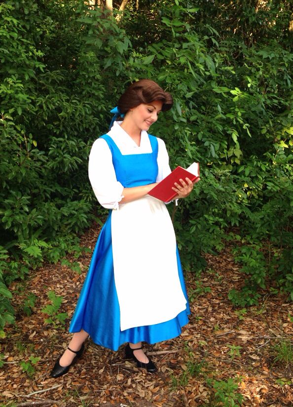 Belle in her blue dress | Disney Face characters ...  Belle in her bl...