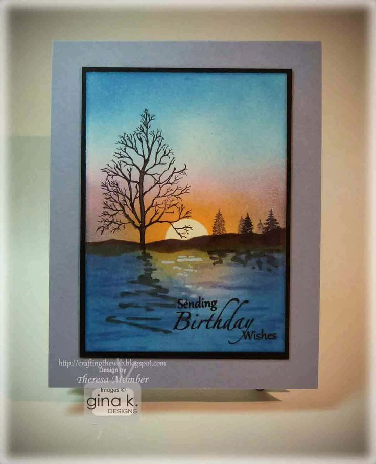 Crafting The Web: Tranquil Birthday Scene Card Tutorial and Video