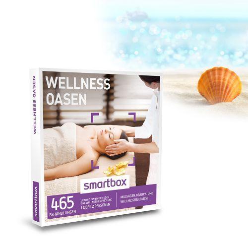 467 Wellnessangebote, wann und wo Du willst! Die Wellness Oasen - Gutschein Box ist eine sensationelle Idee zum Entspannen und Auftanken gegen den stressigen und grauen Alltag. Einen Tag erholen und Genuss erleben im Spa, der Therme, bei der Massage und weiteren Beauty- und Wellnessbehandlungen!