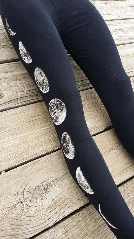 Moon Phase Black Leggings. Why don't I have these already?