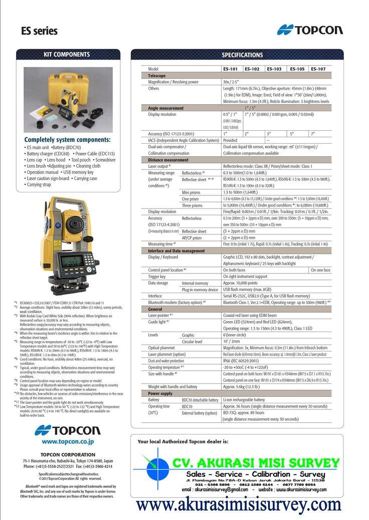Jual Total Station Topcon ES 105
