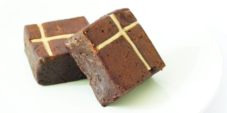 Paul A Young transforms the hot cross bun into a dense, gooey and luxurious brownie. Perfect for Easter and beyond