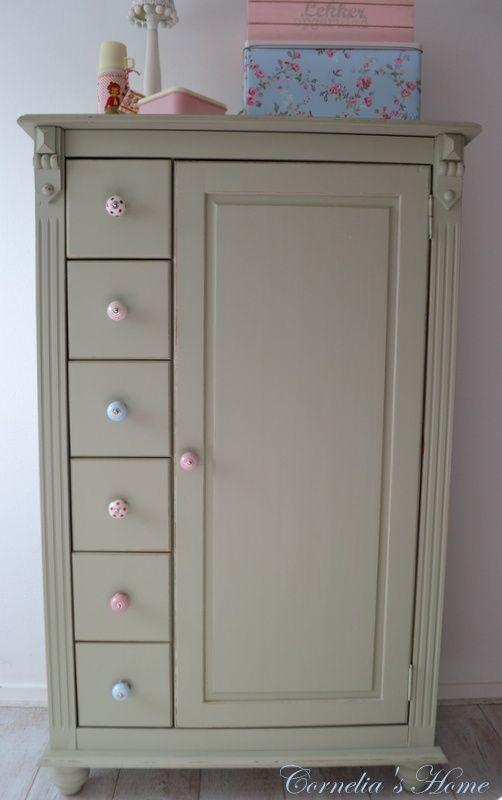 ... Groene Kasten op Pinterest - Kasten, Vitrines en Groene Keukenkastjes