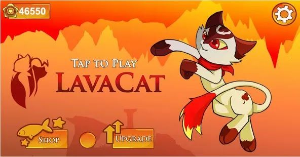 Download LavaCat | Download Android Apps (Apk format)  LavaCat Lite is an action game that combines agility and strategy. Each level requires perfect timing when sprinting or jumping and accurate decision making on how to get treats. Power-ups include Pajamas that are immune to lava, Big Paws that deflect falling rocks and a Supercape that defies gravity, allowing you to soar through the air.