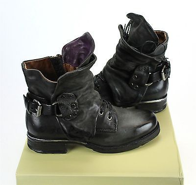 A.S.98 Simon - Smoke Nero EU Sizes 36 - 39 Women's Boots