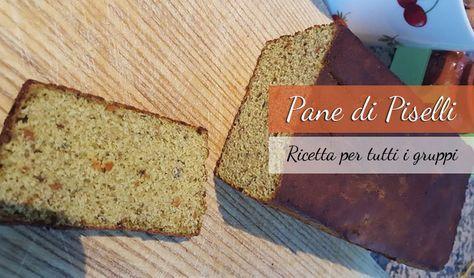 Pane realizzato usando la farina di piselli Ricetta adatta a tutti i gruppi sanguigni. Questo pane non contiene glutine e la ricetta per la sua realizzazio