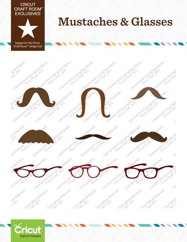 Great Mustaches And Glasses Cricut Craft Room Part 30