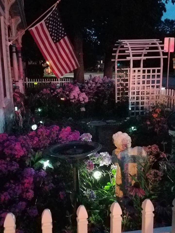 Judy's front yard. Evening of August 1st, 2017 Christmas