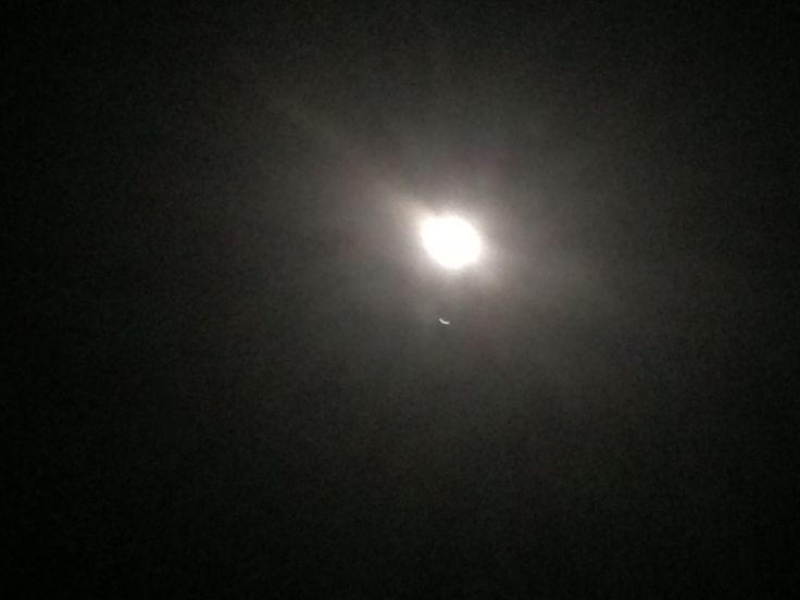 Luna and Jupiter, now #conjunction