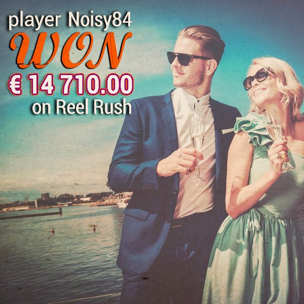 Player Noisy84 just won 14 710.00 EURO on Reel Rush! Can you do the same?