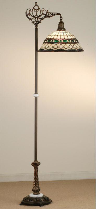 Meyda Tiffany 65839 Stained Glass / Tiffany Floor Lamp from the Tiffany Roman Co Tiffany Glass Lamps Floor Lamps