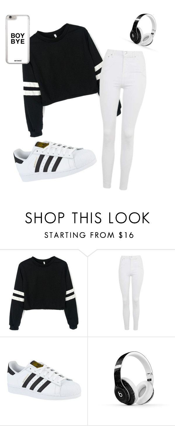 """""""Untitled #73"""" by amaya99 ❤ liked on Polyvore featuring Topshop, adidas and Beats by Dr. Dre"""