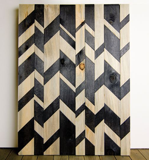Apparently, distorted chevron is the new chevron!  (Original pin uploaded by Pinterest User and creator of this chevron design - Kristin Casaletto of Wood & Paper Co.): Wall Art, Idea, Inspiration, Patterns, Wood, Chevron Pattern, Chevron Wall, Diy, Broken Chevron
