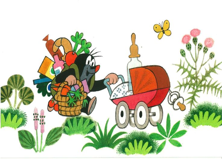 (2014-07) Muldvarpen går med indkøb og barnevogn