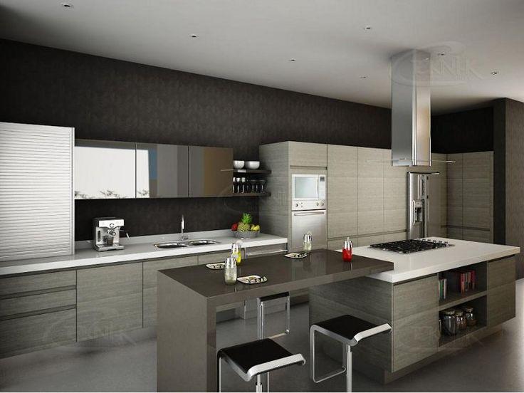 Muebles de cocina modernos si te gusta estar en la vanguardia y que tu casa luzca sobria y - Interiores de cajones de cocina ...