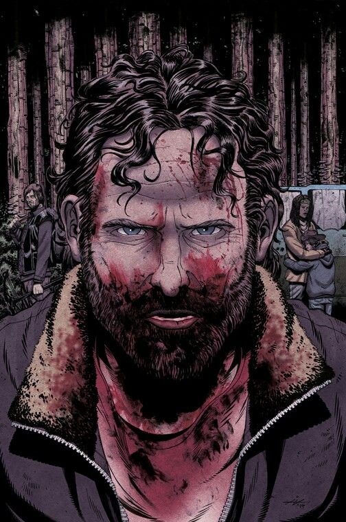 Rick Grimes- This is so cool; it looks like the style of the comic book but still looks enough like Andrew Lincoln.