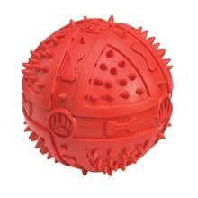 Chompy Romber Balls are made from tough rubber, with raised nubs for a varied Chew Toys For Dogs chewing experience. Also features a squeaker for interactive play.