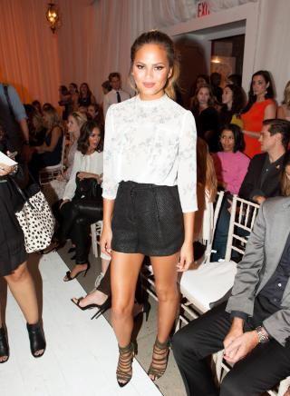 Chrissy Teigen attends the New York Fashion Week Spring/Summer 2016 LC Lauren…