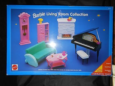 Barbie Living Room Collection With Piano Mattel 1994 Good
