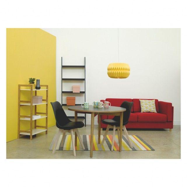 KURA Large yellow paper drum lampshade D42 x H27cm | Buy now at Habitat UK