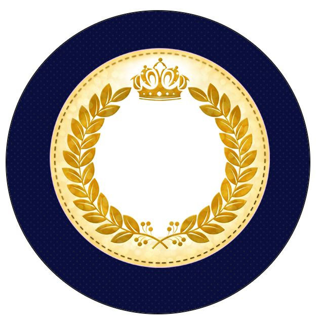 Tubetes, Toppers e Latinhas Coroa Príncipe Azul Marinho