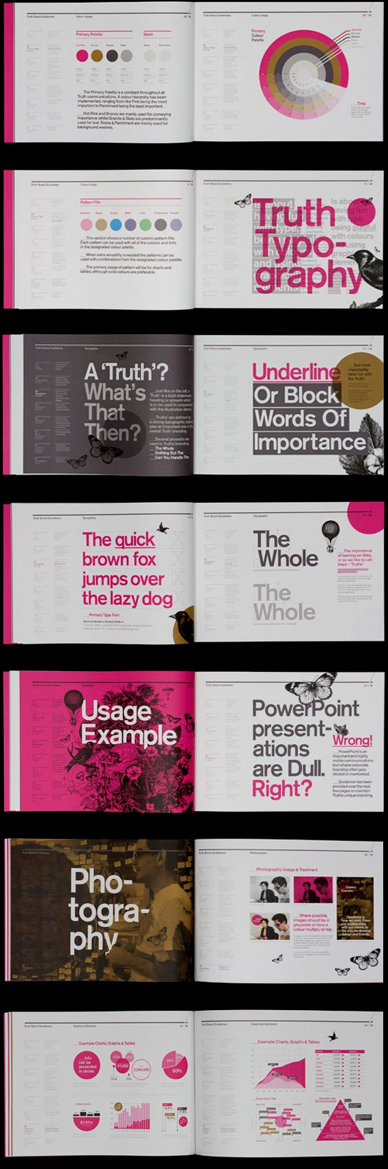 An extensive set of brand guidelines for London based strategic insight…