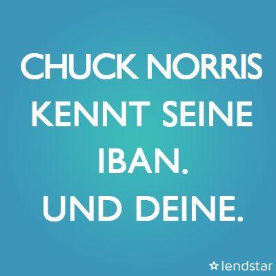 Lendstar (@lendstar) | Twitter #ChuckNorris #ChuckNorrisBirthday #IBAN #Banking #Geld