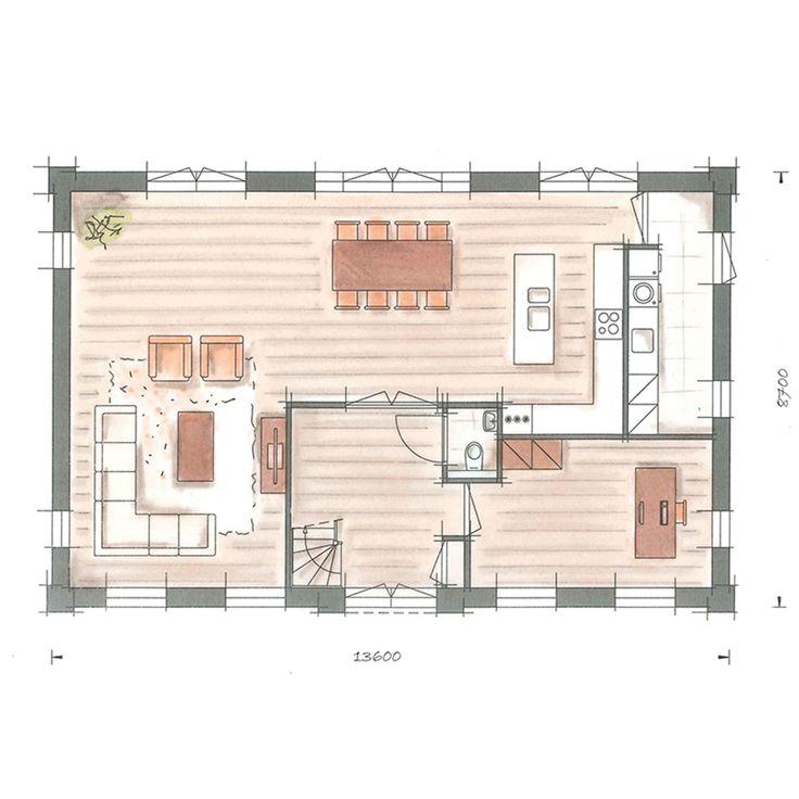Villabouw villa nachtpauwoog plattegrond begane grond for Woonkamer planner
