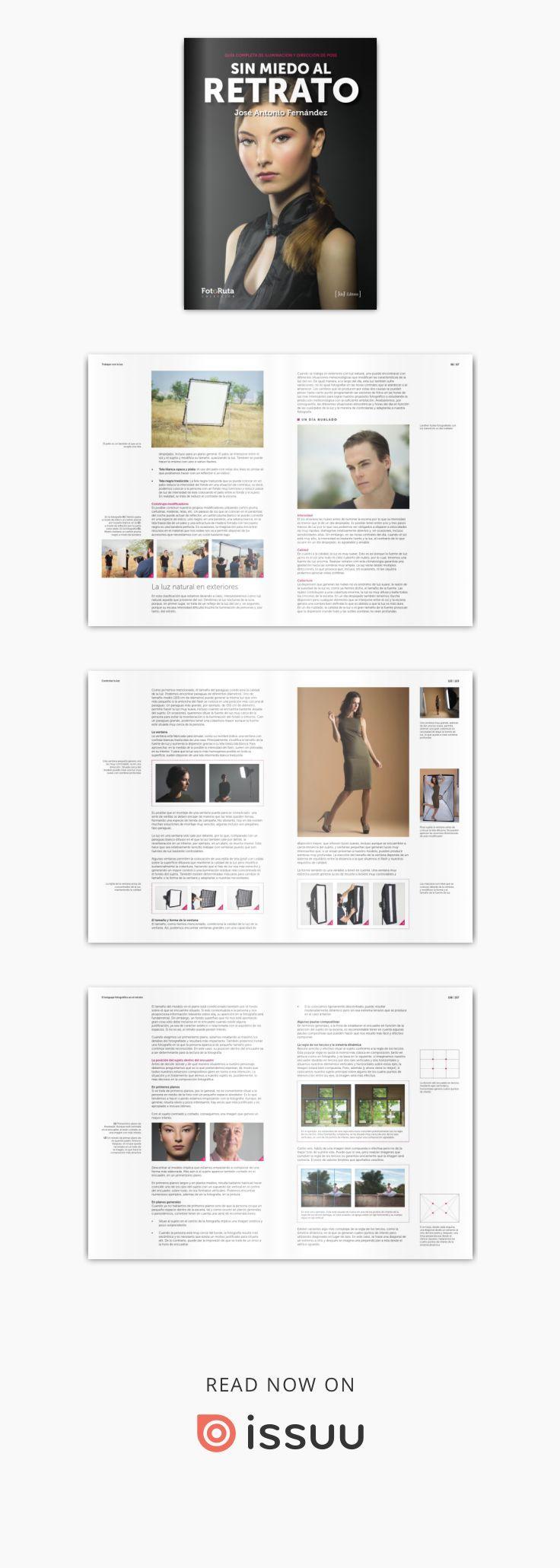 """José Antonio Fernández, autor del exitoso libro """"Sin miedo al flash"""", ya en su 6ª edición, nos ofrece ahora una obra que aborda en profundidad los aspectos fundamentales del retrato, como son la iluminación y la pose. esta completa guía muestra también, con numerosos ejemplos, los ángulos de toma y los diferentes planos fotográficos, así como la composición en el arte de la fotografía de personas. Se incluyen además una gran variedad de sesiones fotográficas comentadas con esquemas..."""