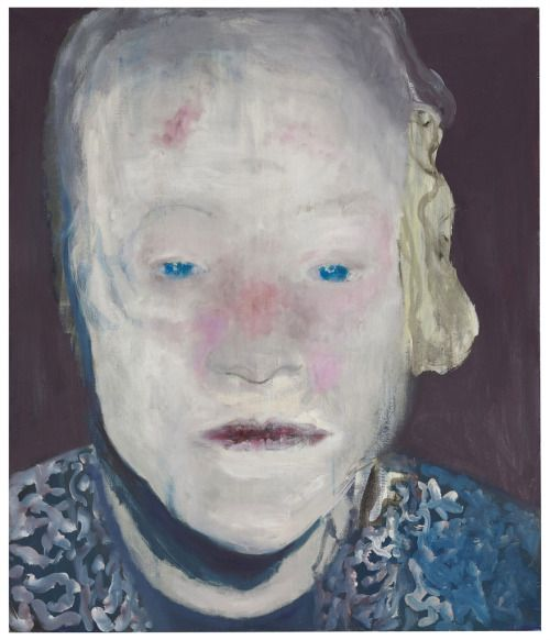 Marlene Dumas (South African/Dutch, b. 1953), The White Disease, 1985. Oil on canvas, 130.5 x 110.5 cm.