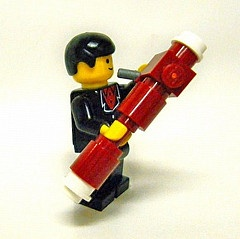Lego Man Playing Bassoon