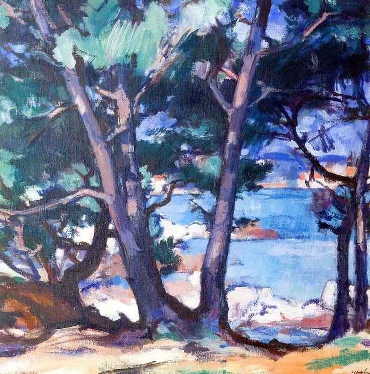 Blue Water, Antibes / Samuel John Peploe - 1928