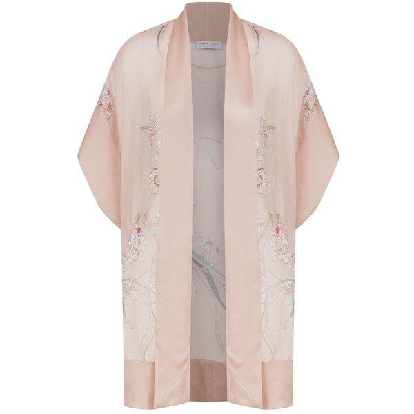Carine Gilson Floral Print Kimono (106.635 RUB) ❤ liked on Polyvore featuring intimates, robes, sheer kimono robe, sheer floral kimono, kimono robe, short kimono robe and floral kimono