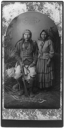 Cochise was one of the most famous Apache leaders (along with Geronimo and Mangas Coloradas) to resist intrusions by Americans during the 19th century. He was described as a large man (for the time), with a muscular frame, classical features, and long black hair which he wore in traditional Apache style.