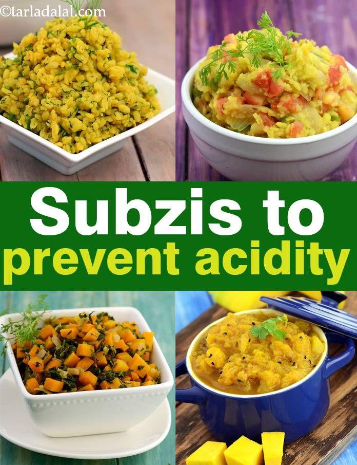 Indian Vegetables Subzis To Prevent Acidity Tarladalal Com Indian Vegetable Recipes Indian Food Recipes Vegetarian Indian Dinner Recipes