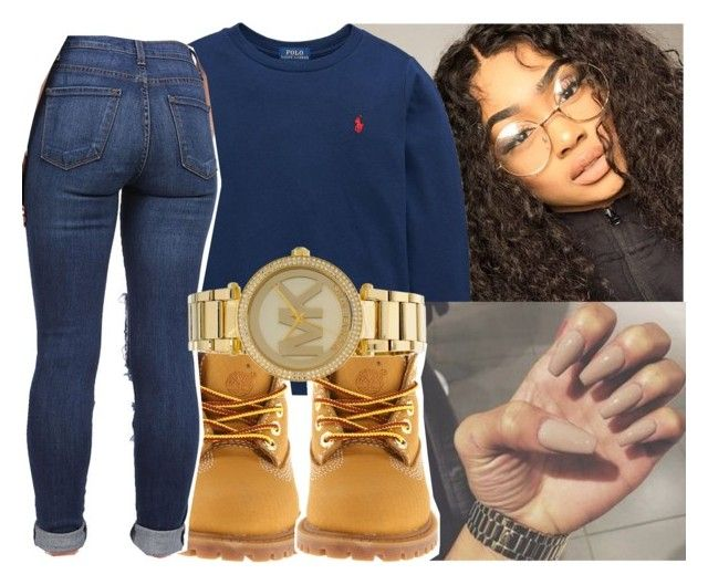 """""""Sweater weather"""" by eazybreezy305 on Polyvore featuring Ralph Lauren, Timberland, Michael Kors, cute, sweaterweather and Fall2016"""
