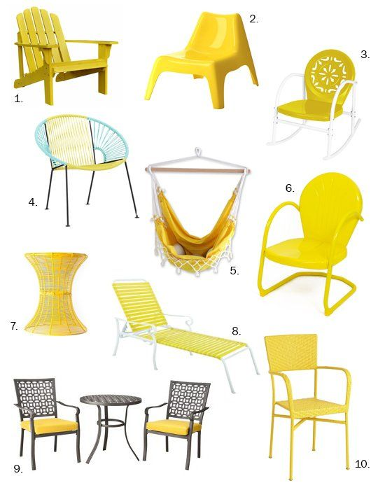 Under $200:  Sunny, Summery Yellow  Outdoor Furniture