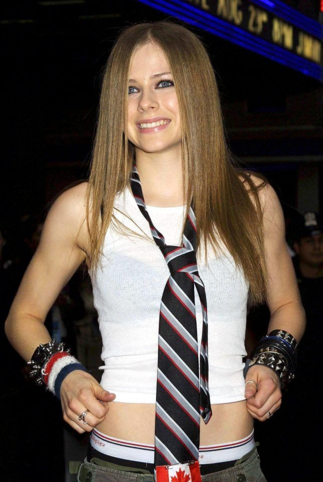 The Canadian singer in 2002... just months before her death