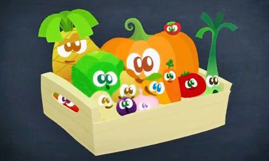 Une série d'animation pour apprendre les fruits et les légumes en s'amusant