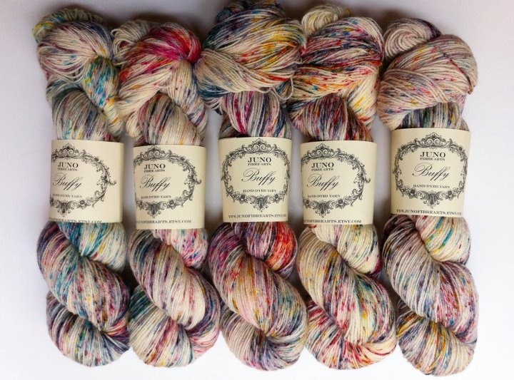 i love speckled yarns!