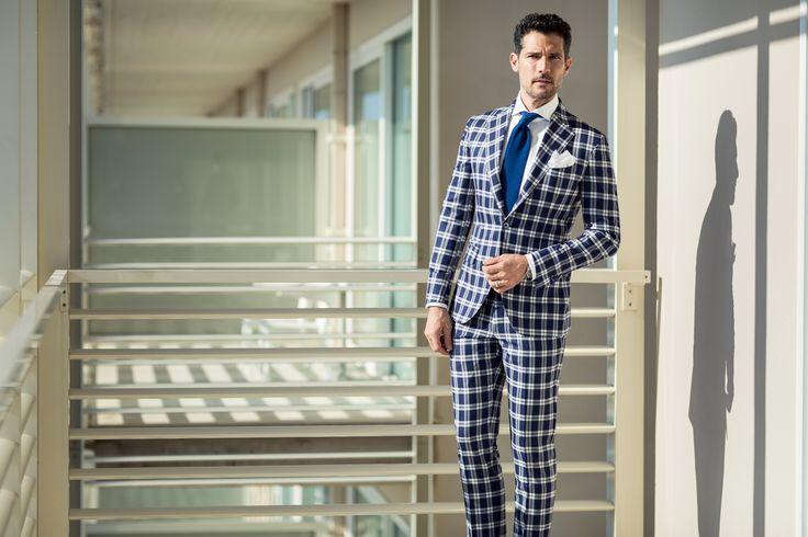 Abito a quadri blu  #menswear #sartoriarossi #suit