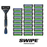 SWIPE 6-Blade Shaving Kit (Razor Blades  Handle ) Bulk Shaving Razors Reviews