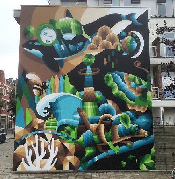 "Eelco van den Berg aka ""Virus"" in Rotterdam, The Netherlands, 2015"