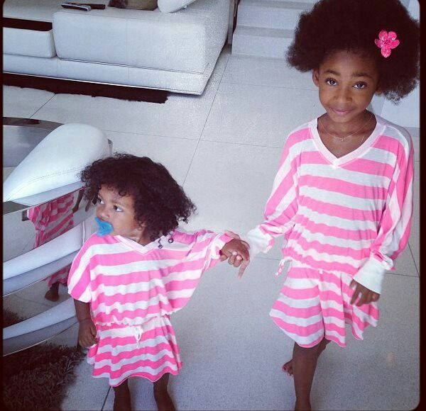 Mel B's (Spice Girl's) daughters dressed in ragdoll and rockets. #Adorable